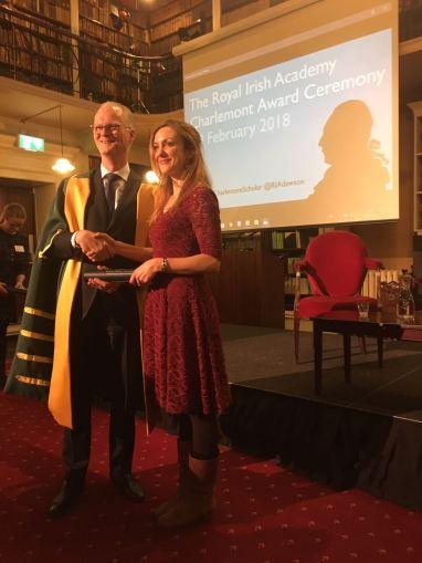 recieving award
